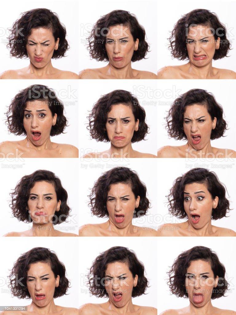 Grup kadın yüz fotoğrafı stok fotoğrafı