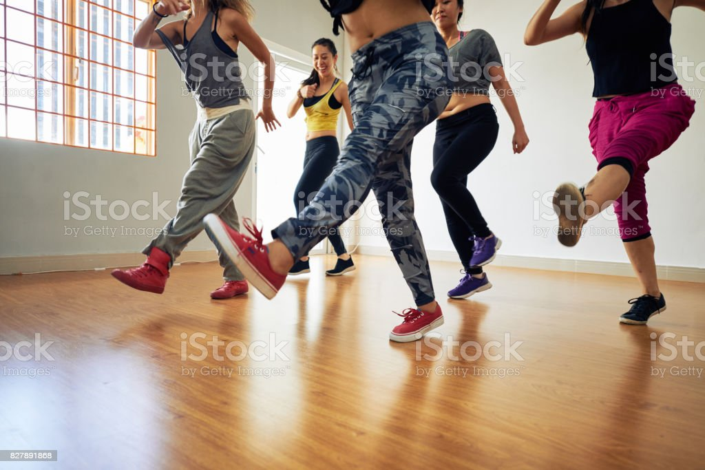 Group of Women at Fitness Training stock photo