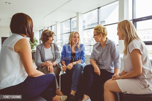 987123762 istock photo Group of women at the training 1092130380