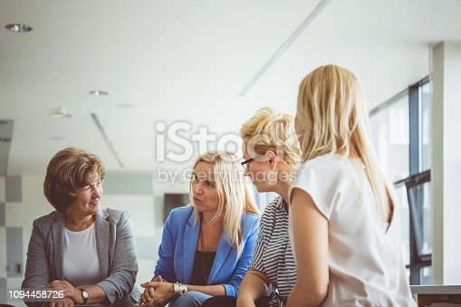 987123762 istock photo Group of women at the training 1094458726