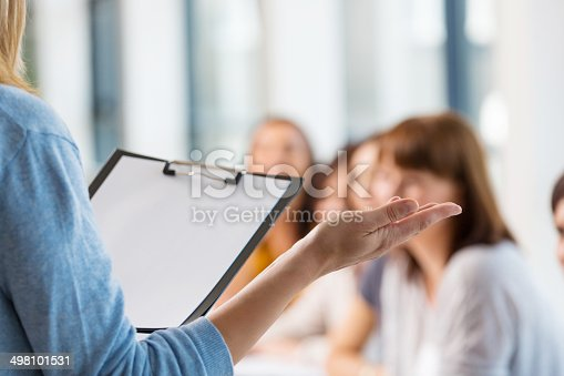istock Group of women at the training 498101531