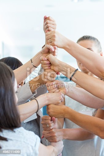 istock Group of women at the training 498211499