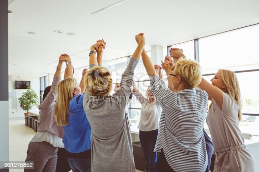 1055095320 istock photo Group of women at the training 931275852
