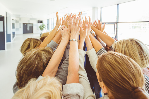 Group Of Women At The Training Stock Photo - Download Image Now