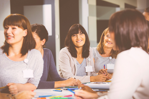 Group Of Women During Seminar Stock Photo - Download Image Now