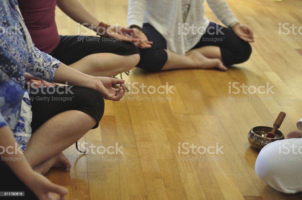 Group of Women Meditating stock photo