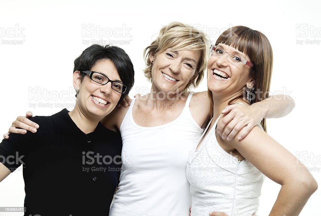 Group of women, mixed ages royalty-free stock photo