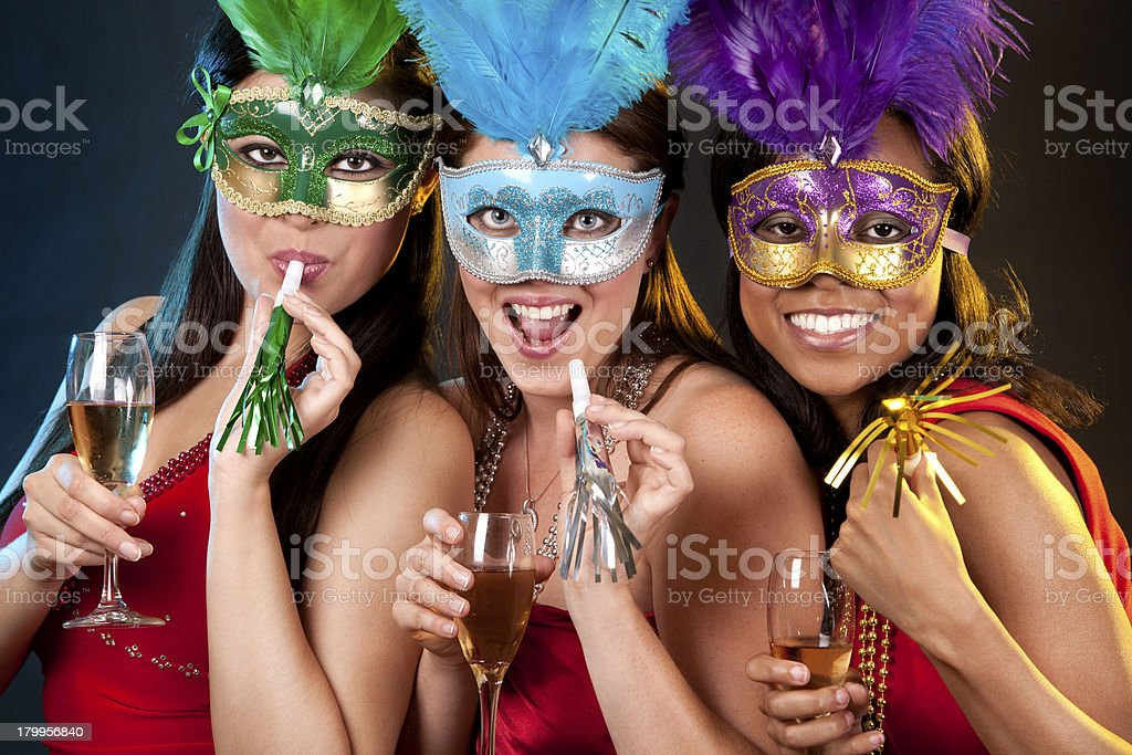group of women partying royalty-free stock photo