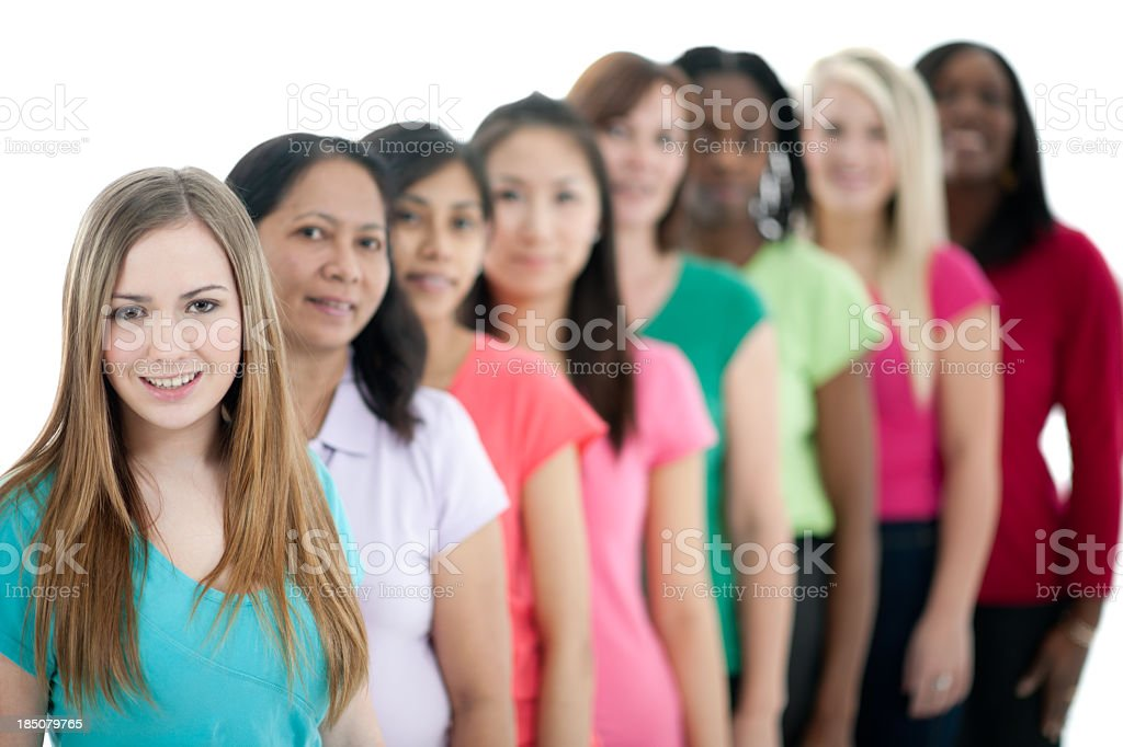 Group of women royalty-free stock photo