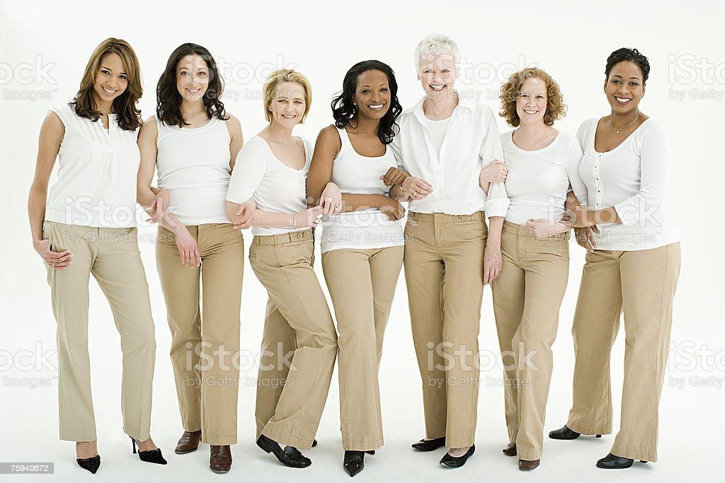 Group of women stock photo