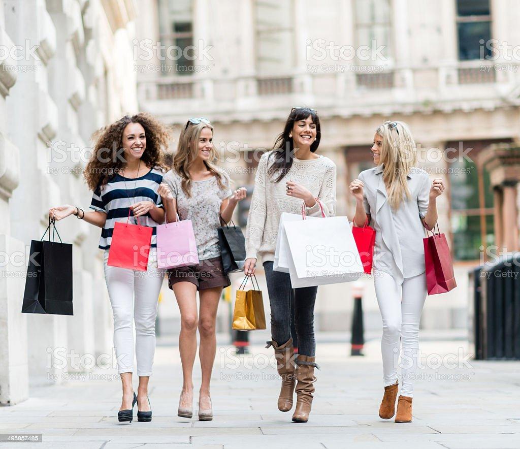 Group of women shopping stock photo