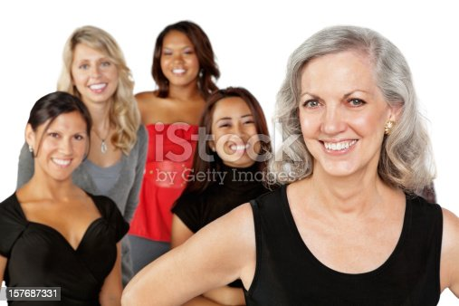 536775759istockphoto Group of Women With Mature Adult Female in Front 157687331