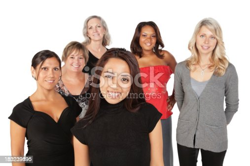 536775759istockphoto Group of Women With Young Asian Girl in Front 183239895
