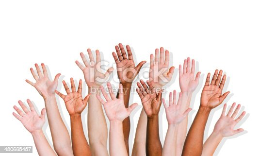istock Group of World People's Hands 480665457