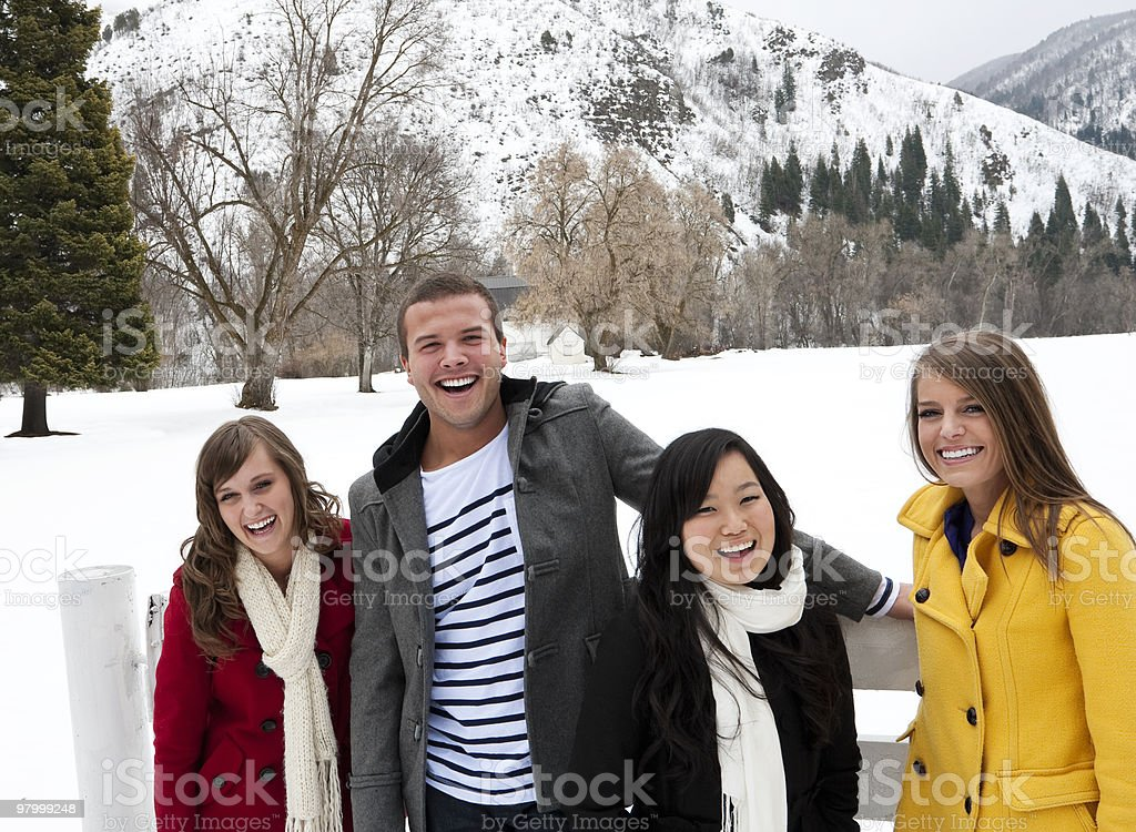 Group of Young Adults laughing royalty-free stock photo