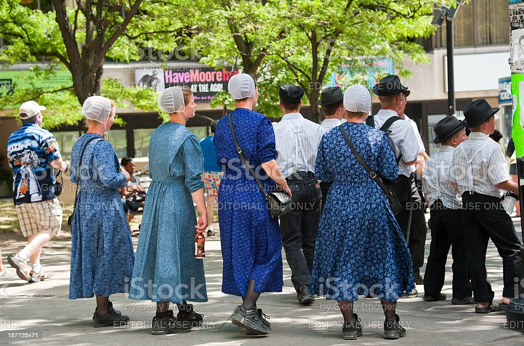 Group of Young Amish ladies