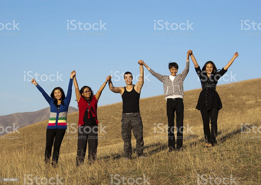 Group of young asian people royalty-free stock photo