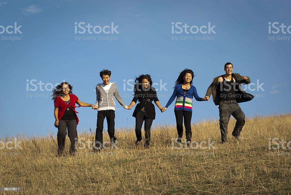 Gruppo di giovani asiatici persone foto stock royalty-free