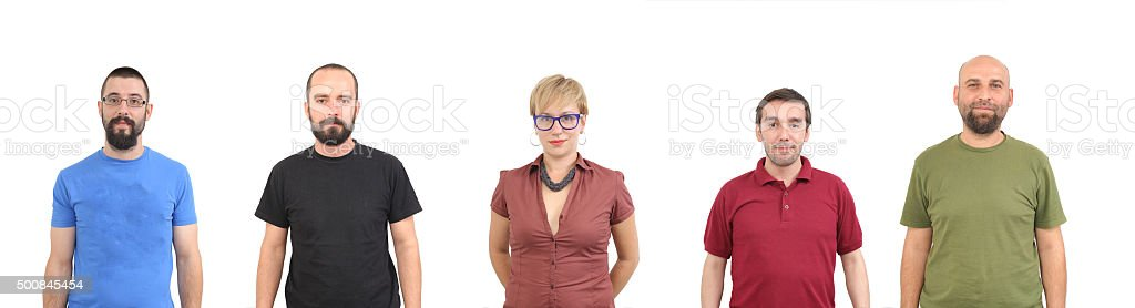 Group of young associates stock photo
