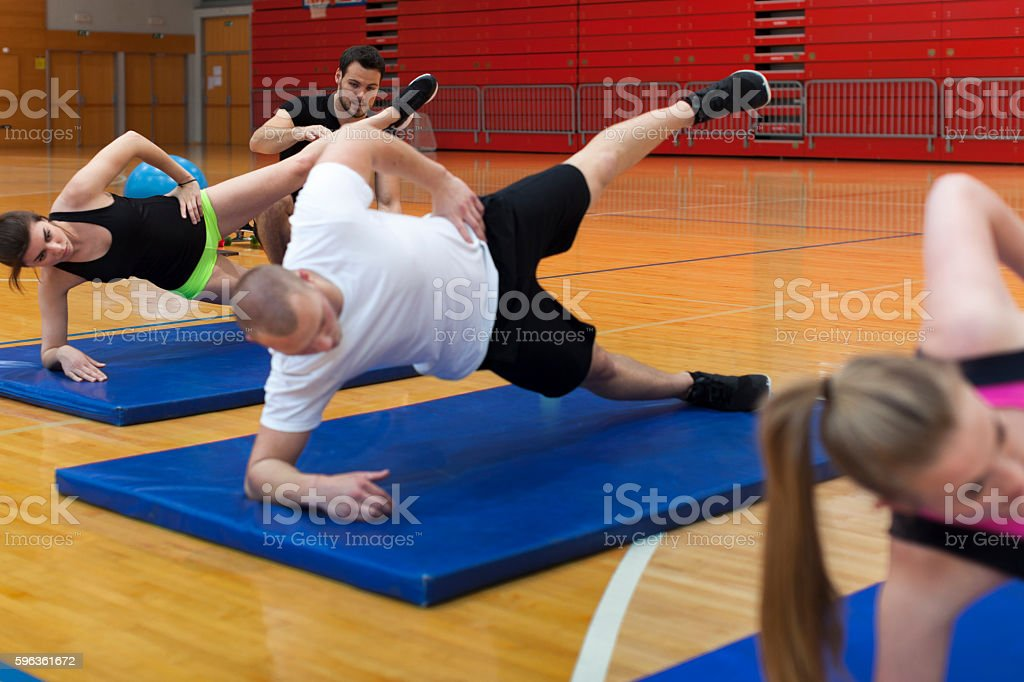 Group of Young Athletes Fitness Training royalty-free stock photo