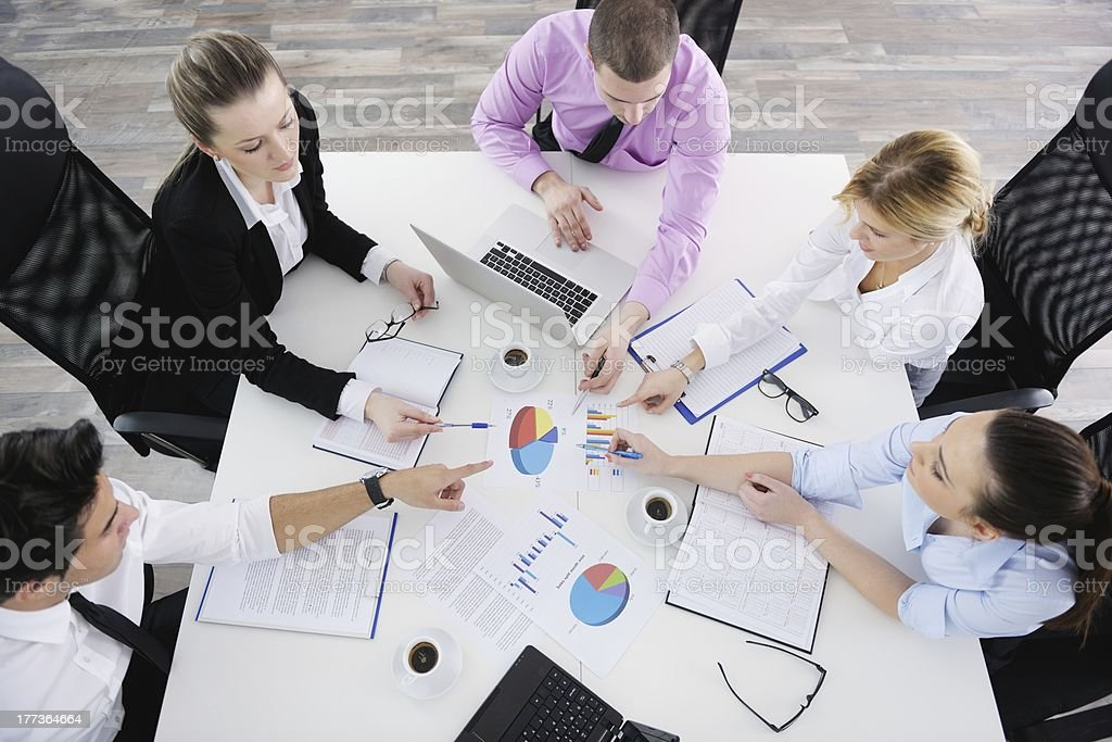 Group of young business people at meeting royalty-free stock photo