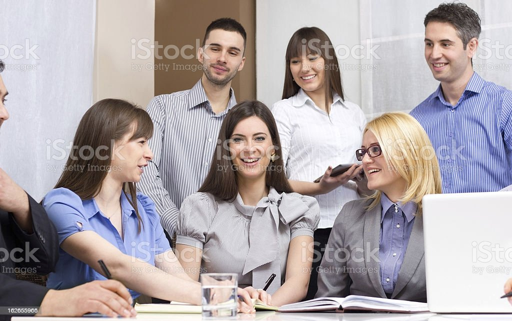 Group of young business people royalty-free stock photo