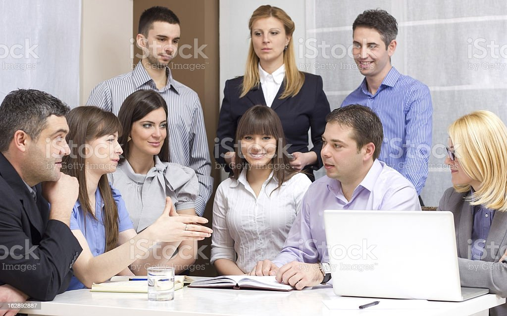 Group of young business people working royalty-free stock photo