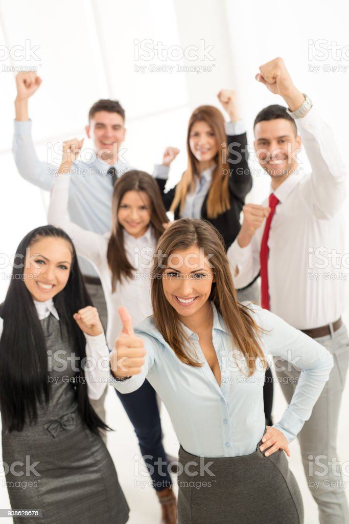 Group Of Young Business Team stock photo