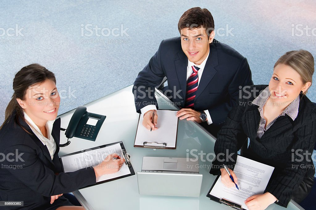 Group of young businesspeople royalty-free stock photo
