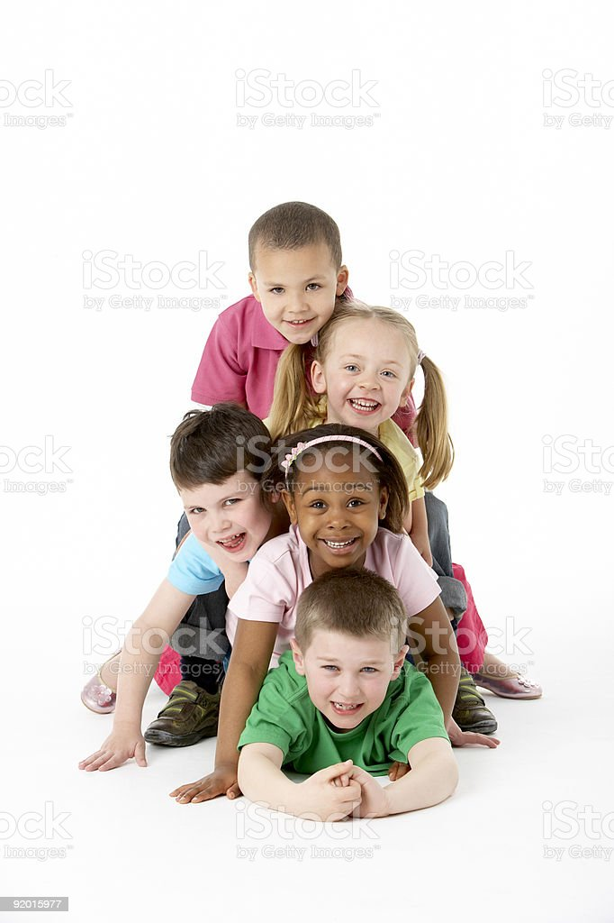 Group Of Young Children stock photo