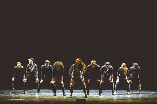 Group Of Young Dancers On The Stage Stock Photo - Download Image Now