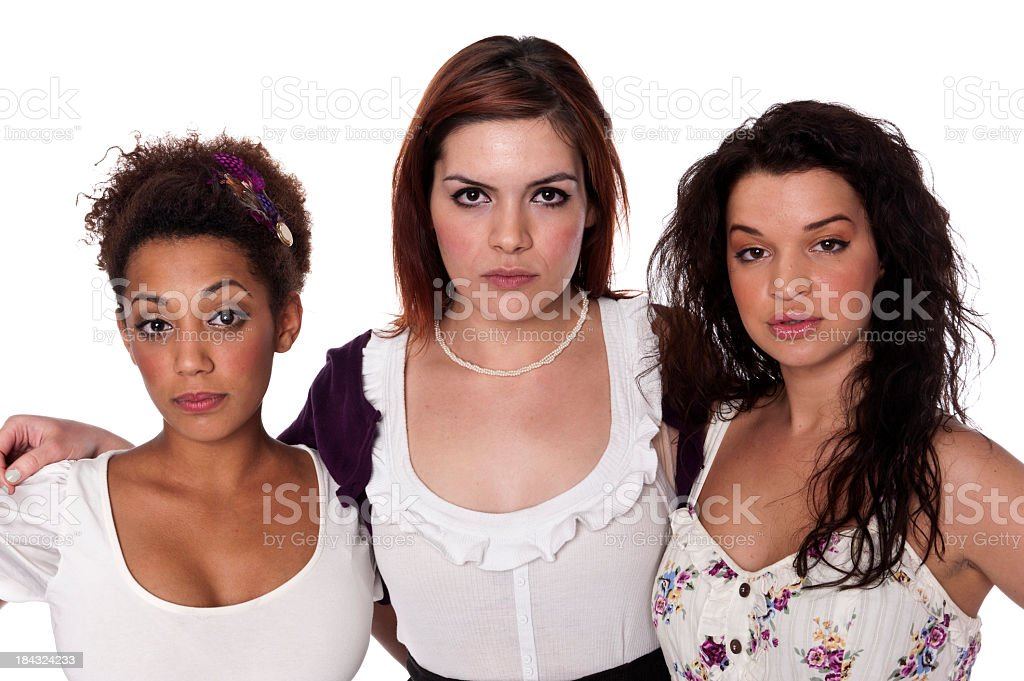 Group of young female co-workers royalty-free stock photo