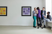Group of young people at Art opening