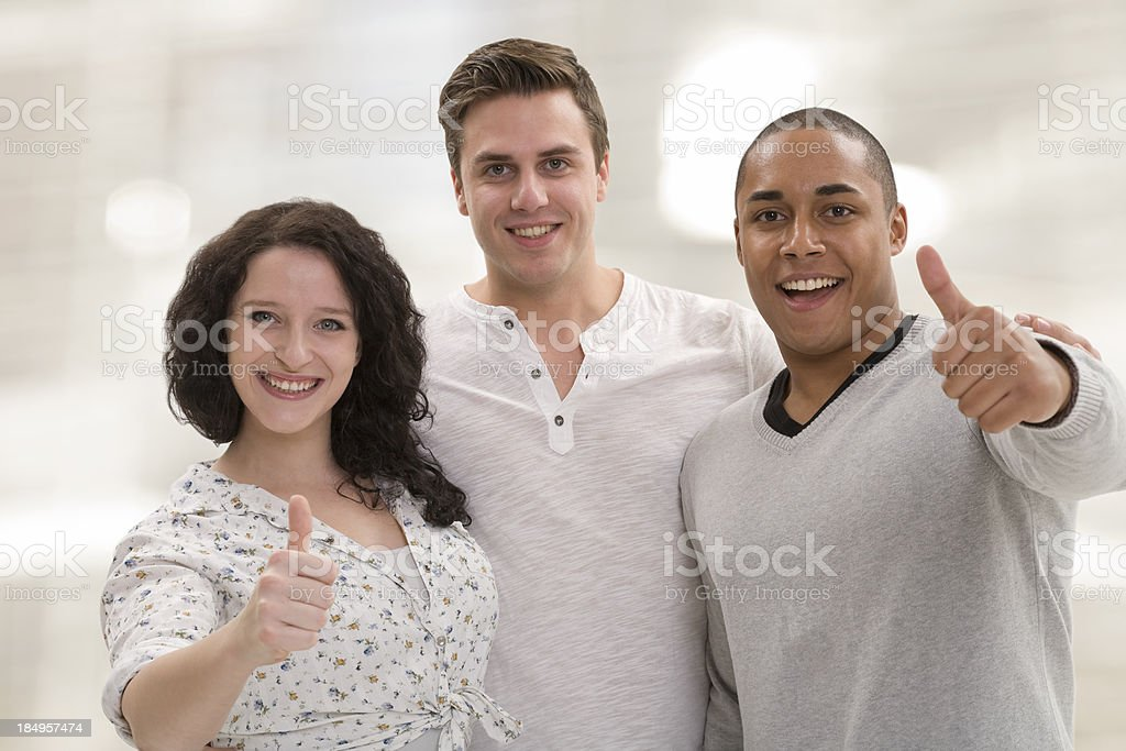 Group of young people enjoy royalty-free stock photo