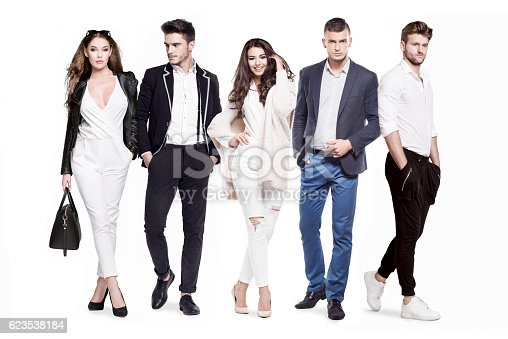 istock Group of young people fashionably and elegantly dressed 623538184