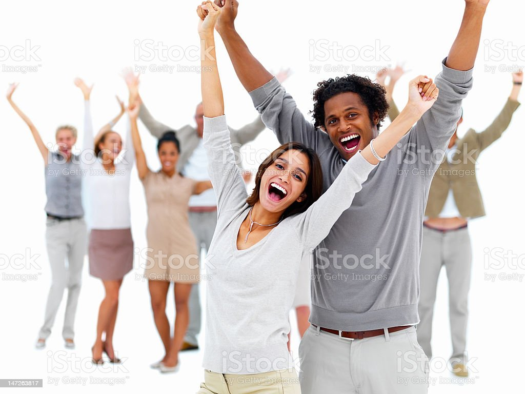 Group of young people having fun royalty-free stock photo