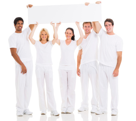 1166716628 istock photo group of young people holding a blank white board 477455219