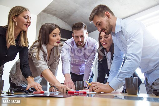 istock A group of young people in a business meeting. 866548238