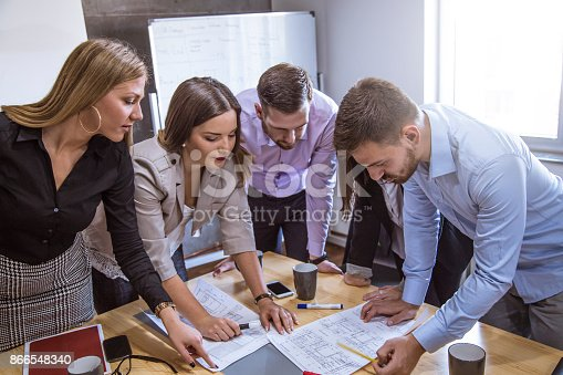 istock A group of young people in a business meeting. 866548340
