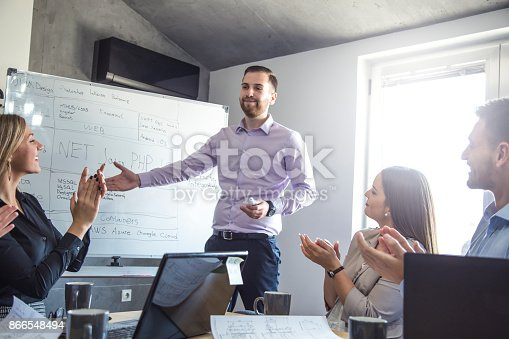 istock A group of young people in a business meeting. 866548494
