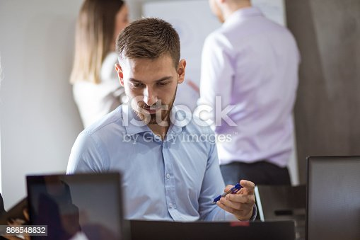 istock A group of young people in a business meeting. 866548632