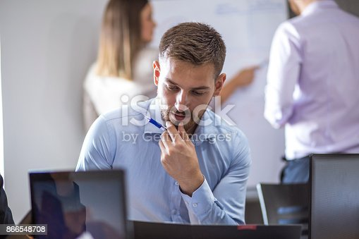 istock A group of young people in a business meeting. 866548708