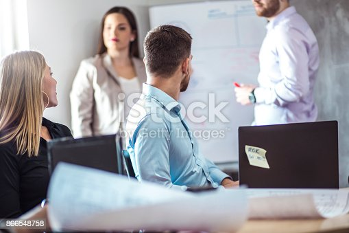 istock A group of young people in a business meeting. 866548758