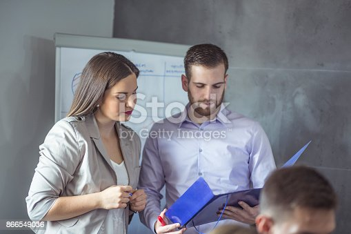 istock A group of young people in a business meeting. 866549036