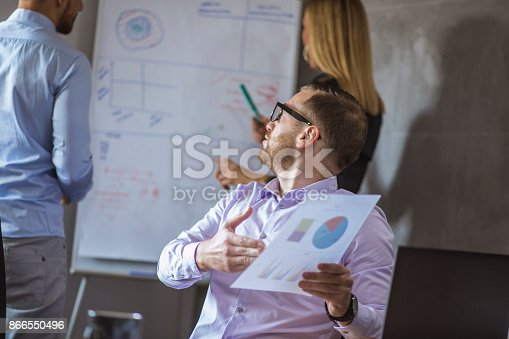 istock A group of young people in a business meeting. 866550496