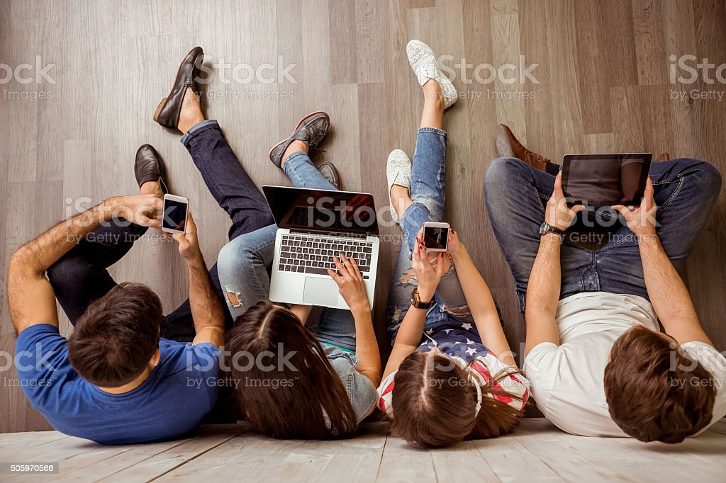 Group of young people stock photo