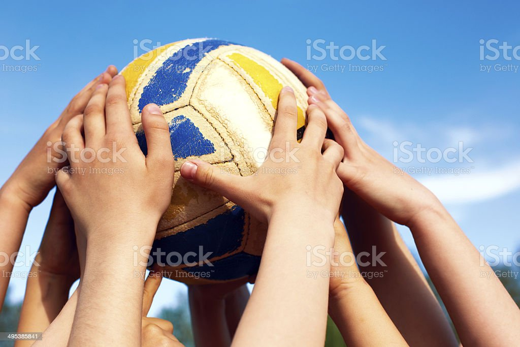 Volleyball woman group stock image. Image of block, jump
