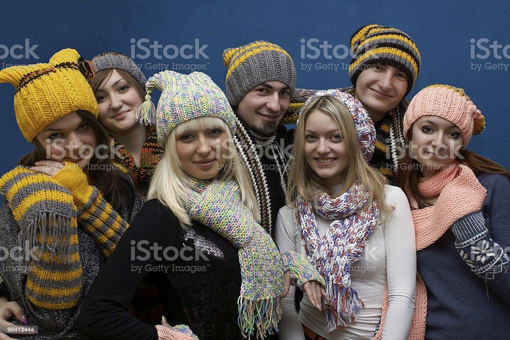Gruppe von jungen Menschen Lächeln Lizenzfreies stock-foto