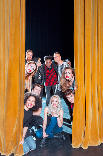 Group Of Young Performers On The Stage Stock Photo - Download Image Now