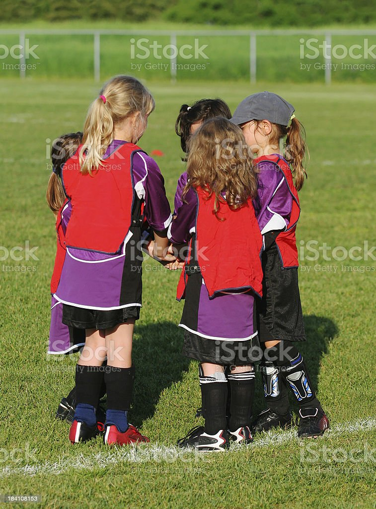 Group of young soccer players royalty-free stock photo